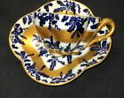 ANTIQUE COALPORT ENGLAND ROYAL BLUE GOLD DEMI TEA CUP AND SAUCER