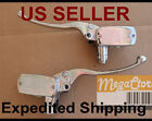 Left & Right Brake & Clutch Master Cylinder Honda Yamaha Suzuki Kawasaki- CHROME