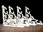 Lot 4 Antique-Style OFF-WHITE Cast Iron Cameo 8