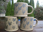 Hartstone Pottery 3 Mugs Cups Stoneware Rustic Style Vintage? Blue Green Brown
