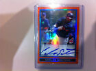 2009 Bowman Chrome BCP108 Carlos Santana Orange Refractor Auto 09 25 Indians