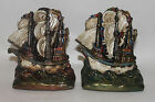 Ships Bronze Clad Bookends By Armor Bronze Co Signed W Johnson