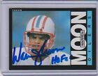 1985 Warren Moon Signed Auto Topps RC