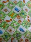 Animal baby fabric childrens squares lions giraffes elephants green 165