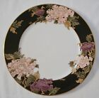 Fitz and Floyd Cloisonne Peony Dinner Plate Black Rim Japan China