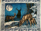 Stunning deer Buck and Doe moonlight cotton fabric quilt or wall panel to Sew
