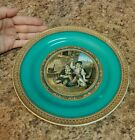 Early F.R.PRATT. & Co. 123 FENTON Scenery Stoneware Plate Drinking Men with Dog