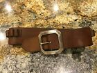 Vintage leather Ammo Belt  North & Judd Anchor Symbol Buckle Hunter 238 Small