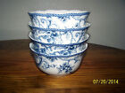 NEW 222 Fifth Adelaide Blue Fine China SET of FOUR SOUP/CEREAL BOWLS - BRAND NEW