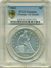 1842 Seated Liberty $1 Dollar PCGS SECURE AU Details FREE Insured Post