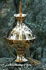 Brass Hanging Incense Censer-Church Style-Charcoal-Incense-Resin - 6 Inches Tall