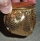 1930's Evans Mayfair GOLD MESH CLUTCH/EVENING PURSE with MIRROR, ROGUE/POWDER