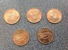 1968 IRELAND 5 X 1968 Irish Pennies  UNCIRCULATED AND TAKEN FROM A BANK BAG