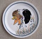 Southern Potteries Blue Ridge Bird Hunting Dog Platter Plate 11 1/2