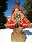 Vintage Holy  Infant Jesus of Prague Statue with Altar ,(Santo Nino de la Praga)