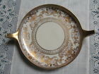Unique Noritake Serving Plate with Handles Hand Painted Raised Gold Design Japan