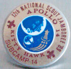BSA 12th National Scout Jamboree Apollo 14 Kittyhawk Subcamp 14 Lapel Pin