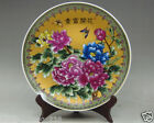 Decorative Chinese hand painting Famille Rose Porcelain Plate Flowers Blossoming