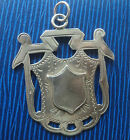 LARGE Sterling Silver Medal / Fob / Pendant  1901 -  not engraved