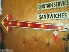 LARGE LIGHTED 3D ARROW Metal SIGN Man Cave Display Fair Exit Mobil STAGE  Cool