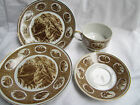 ANTIQUE  GERMANY   CUP  AND SAUCER  AND TWO  PLATES