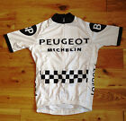 Vintage style cycling jersey Tommy Simpson Peugeot replica