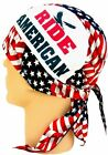Patriotic Ride American Motorcycle Doo Rag Skull Cap Scarf Fashion Apparel Gift