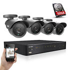 SANNCE 4CH 960H DVR 800TVL Outdoor Security Camera Surveillance System 500GB HDD