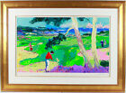 """""""FIRST AT SPYGLASS"""" by LeRoy NEIMAN. MAGNIFICENTLY FRAMED LE GOLF PIECE! PERFECT"""