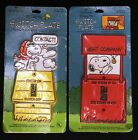 2 NIP Vintage Snoopy Light Switch Cover Plates  1958 Power is On ~ 1965 Contact