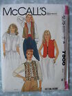 VTG Sewing Pattern 7986 Misses Vests 4 Styles with Ruffles Size 14