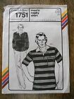 VTG 1979 Stretch & Sew #1751 Men's Rugby Shirt Pattern by Ann Person Szs 34-48