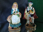 Rare Fitz & Floyd Harvest Heritage Pilgrim Salt Pepper Shakers s/p NEW figurines