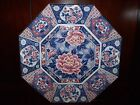 Tosho Fine China~Octagon Charger Plate~Blue~Mauve~Flowers~Birds~12