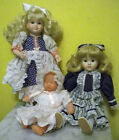 Lot of 2 Lovely Porcelain Dolls Patricia Rose Brinn with bonus item. 80's 90's