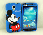 for Samsung Galaxy SIV S4 I9500 Mickey Mouse Dual Front + Back Case cover Pouch