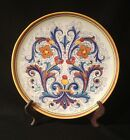 Large Decorative Hanging Plate Made By Deruta Italy