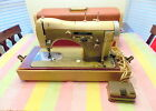 Vintage BU Necchi Supernova Sewing Machine Heavy Duty With Case
