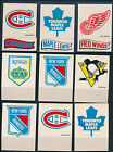 1973-74 Topps Team Stickers Hockey lot of 18 EXMT avg cond most no bottom 27333