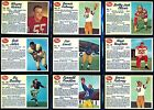9 Card 1962 Post CFL Football Lot 8 different, great condition listed 16157