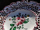 FINE ANTIQUE FRENCH PROVENCE ROSE HAND PAINTED CERAMIC FAIENCE PLATE