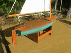 Vintage Sail Boat Wood and Cloth Sails,Model Ship 14