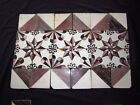Antique Delft Friesen Star Tiles, 3 Complete Plus Border. Ca mid 19th Century A+