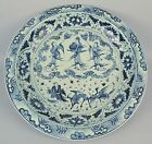 CHINESE BLUE AND WHITE DECORATED PORCELAIN CHARGER
