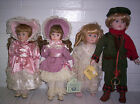 Lot of 4 Porcelain Dolls - Ivonne Heather - Dynasty Dolls - Kingstate