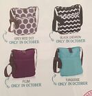 Retro Metro Crossbody By Thirty One - Black Chevron- New - No Embroidery