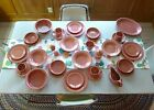 Lot of 36 VINTAGE FIESTAWARE DINNER SETTING FOR 4 in 1950's Rose