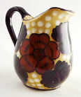 AQUILA ART POTTERY CREAM PITCHER, EARTH TONES L'Aquila ITALY, Hand-Painted, OLD