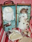 *NEW* SHOW-STOPPERS TRUDY'S HOLIDAY REPRODUCTION BRU TRUNK DOLL W/ ACCESSORIES
