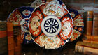 Antique Imari Charger Plate Japanese from England  SCALLOPED w Birds & Floral